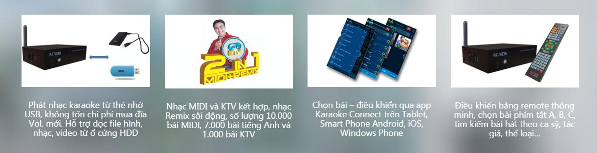 Đầu karaoke acnos km1 wifi