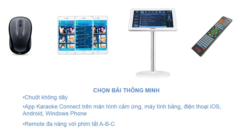 Đầu acnos karaoke online sb801