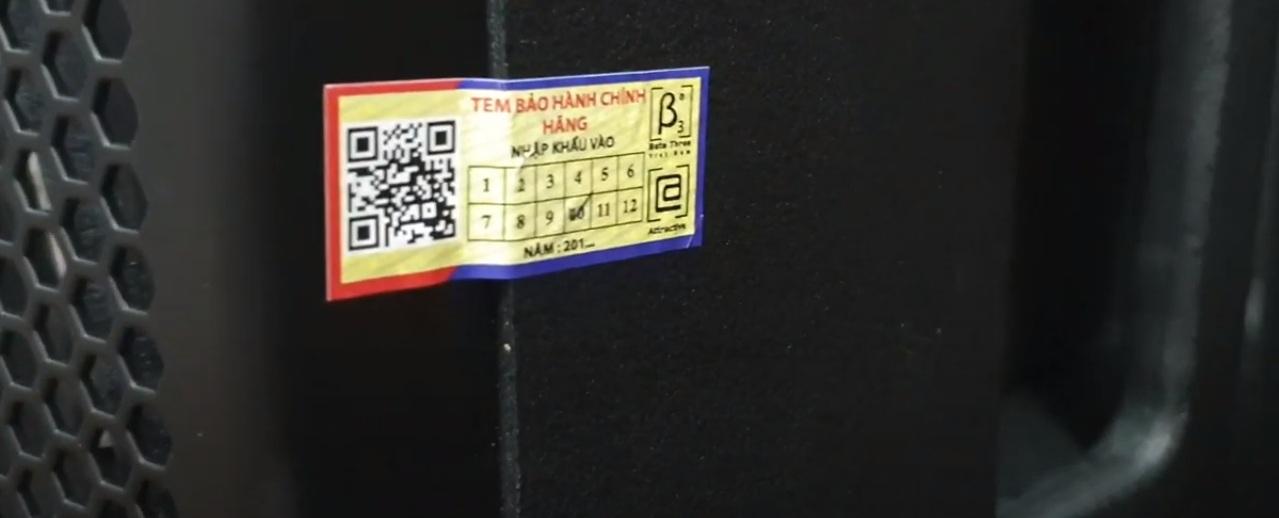 tem chính hãng loa b3 1221